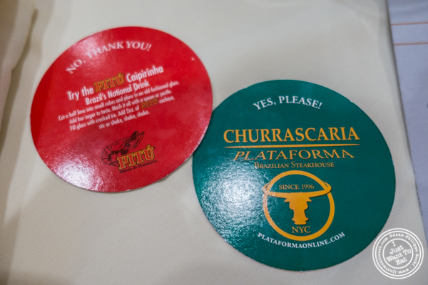 Disks at Churrascaria Plataforma in NYC, New York