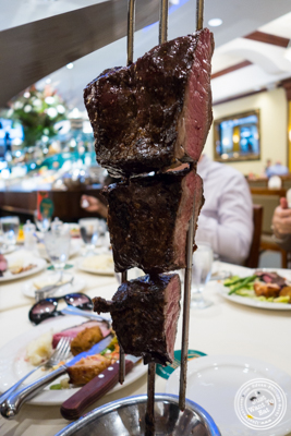 Plataforma steak at Churrascaria Plataforma in NYC, New York
