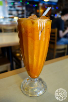 Thai iced tea at Rice Shop in Hoboken, NJ