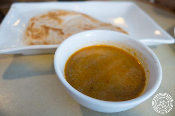 Roti canai at Rice Shop in Hoboken, NJ
