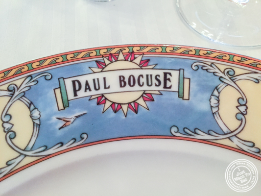 Plate at L'Auberge du Pont de Collonges of Paul Bocuse in France
