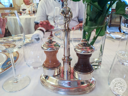 Salt and pepper at L'Auberge du Pont de Collonges of Paul Bocuse in France