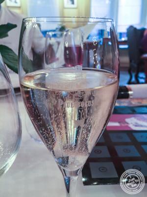 Champagne glass at L'Auberge du Pont de Collonges of Paul Bocuse in France
