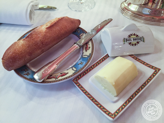 Bread and butter at L'Auberge du Pont de Collonges of Paul Bocuse in France