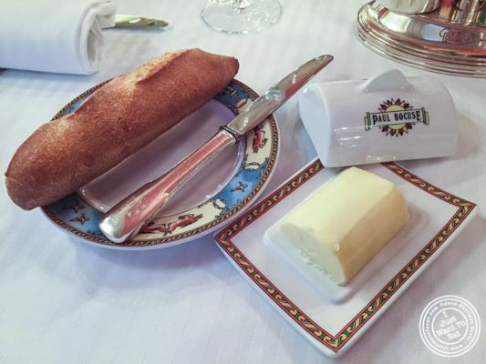 Bread and butter at L'Auberge du Pont de Collonges of Paul Bocuse in France