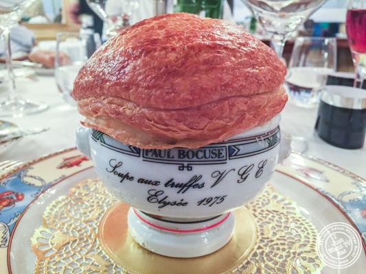 Soupe aux truffes VGE at L'Auberge du Pont de Collonges of Paul Bocuse in France