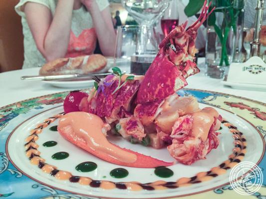 Lobster salad at L'Auberge du Pont de Collonges of Paul Bocuse in France
