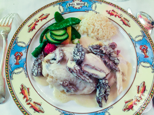 Bresse chicken cooked in a bladder at L'Auberge du Pont de Collonges of Paul Bocuse in France