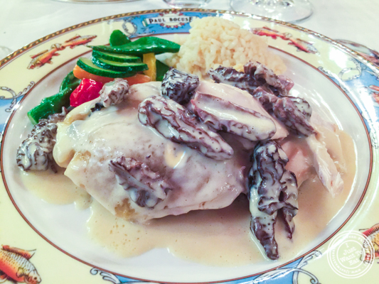 Bresse chicken cooked in a bladder at L'Auberge du Pont de Collonges of Paul Bocuse in France