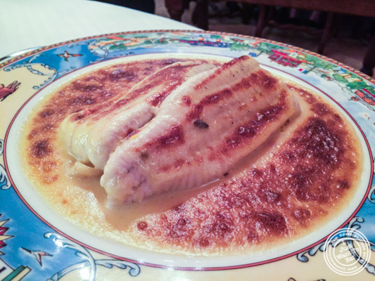 Filet of sole at L'Auberge du Pont de Collonges of Paul Bocuse in France