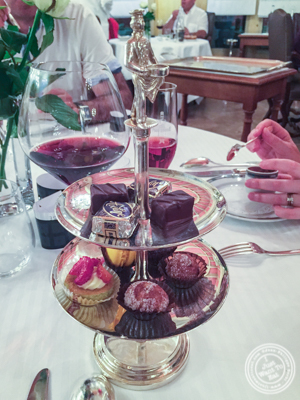 Cookies and chocolates at L'Auberge du Pont de Collonges of Paul Bocuse in France