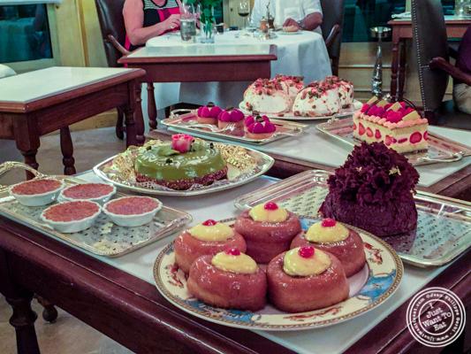 Dessert cart at L'Auberge du Pont de Collonges of Paul Bocuse in France