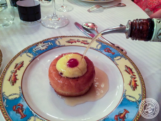 Baba au rhum at L'Auberge du Pont de Collonges of Paul Bocuse in France