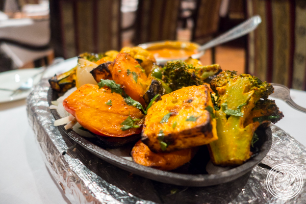 Tandoori vegetables at Saalam Bombay, Indian restaurant in TriBeCa, NYC, New York