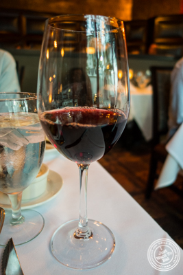 Glass of Pinot Noir at Ruth's Chris Steakhouse in Weehawken, NJ