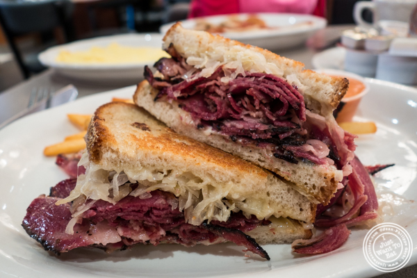 Pastrami Reuben at Malibu Diner in Hoboken, NJ