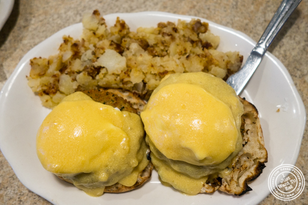 Crab cake benedict at Malibu Diner in Hoboken, NJ