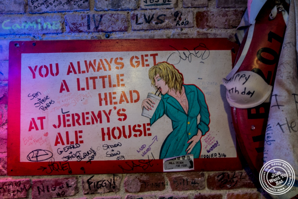 Decor at Jeremy's Ale House in NYC, New York