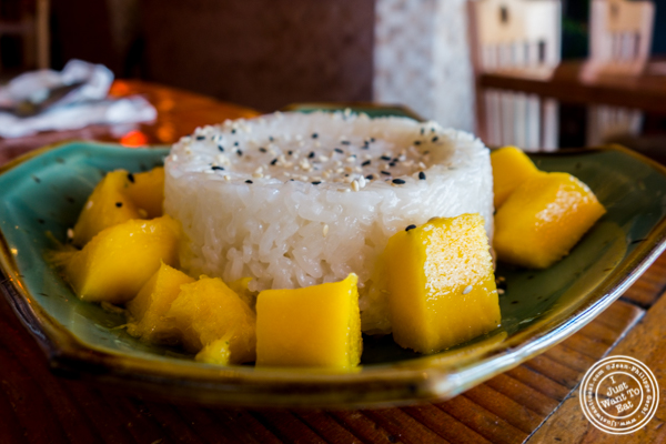 Mango sticky rice at Casual Thai in Hoboken, NJ