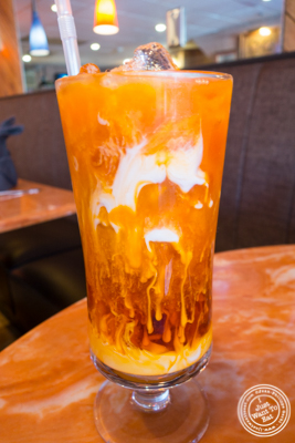 Thai iced tea at Bangkok City in Hoboken, NJ