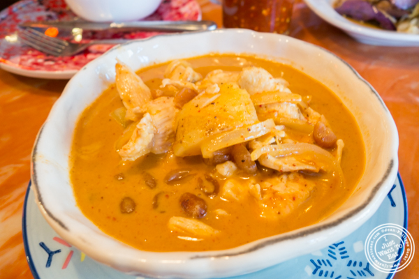 Massaman curry at Bangkok City in Hoboken, NJ