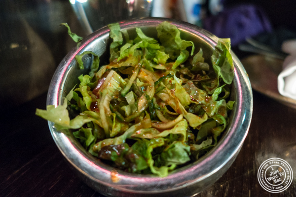 Salad at Kori, Korean restaurant in TriBeCa