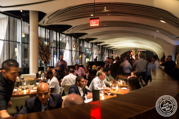Dining room at STK, modern steakhouse in NYC, New York