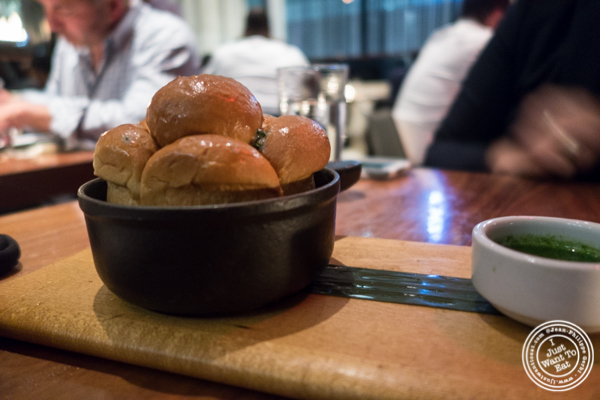 Sourdough bread at STK, modern steakhouse in NYC, New York