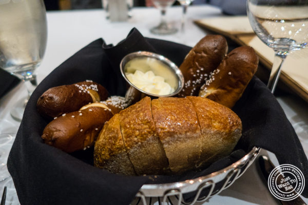 Bread basket at Ocean Prime in NYC, New York