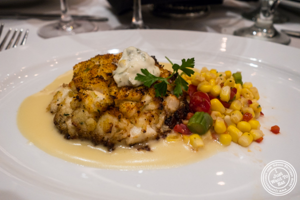 Crab cake at Ocean Prime in NYC, New York