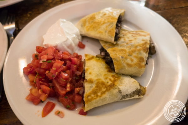 Mushroom quesadilla at Edward's in Tribeca