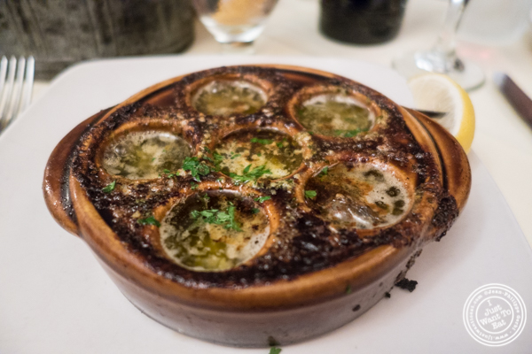 Escargots at Maria's Mont Blanc in The Theater District, NYC, New York