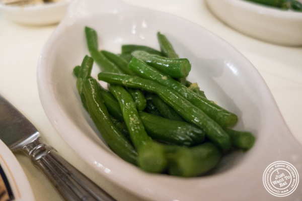 String beans at Maria's Mont Blanc in The Theater District, NYC, New York