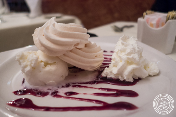 Meringue glacee at Maria's Mont Blanc in The Theater District, NYC, New York