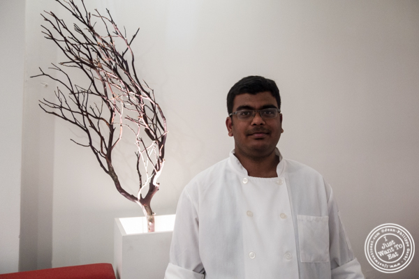 Chef Nagaran at Dosai, Indian restaurant in NYC, New York