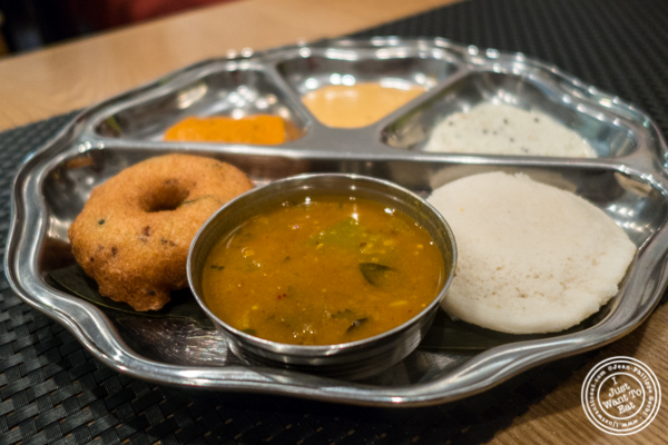 Idli Vadai combo at Dosai, Indian restaurant in NYC, New York