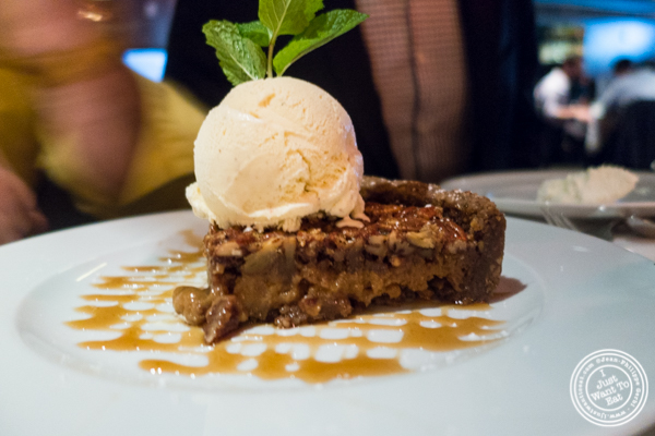 Pecan pie at Mastro's Steakhouse in NYC, New York