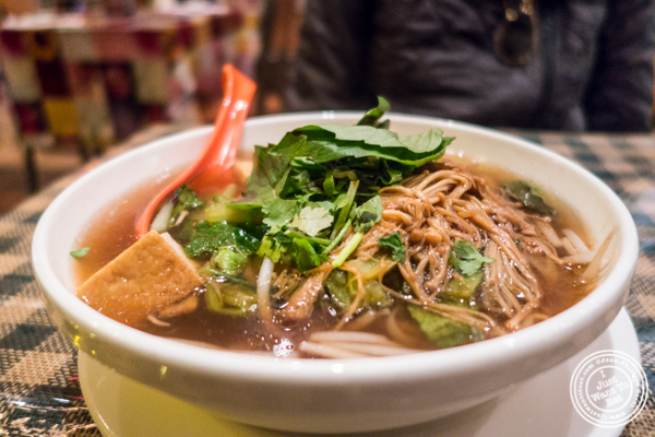 Tofu pho at Boi Noodle House in NYC, New York