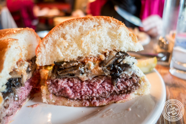 The Alps burger at Onieal's in Hoboken, NJ