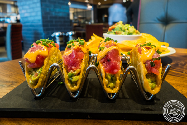 Ahi tuna tacos at Del Frisco's Grille in Hoboken, NJ