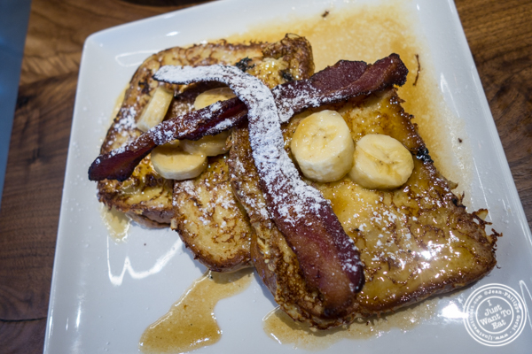 Banana foster French toast at Del Frisco's Grille in Hoboken, NJ