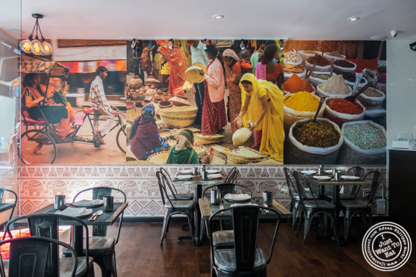 Dining room at Tikka Indian Grill in Williamsburg, Brooklyn