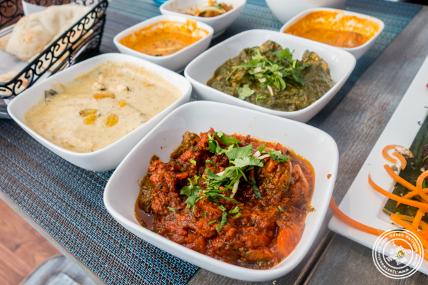 Entrees at Tikka Indian Grill in Williamsburg, Brooklyn