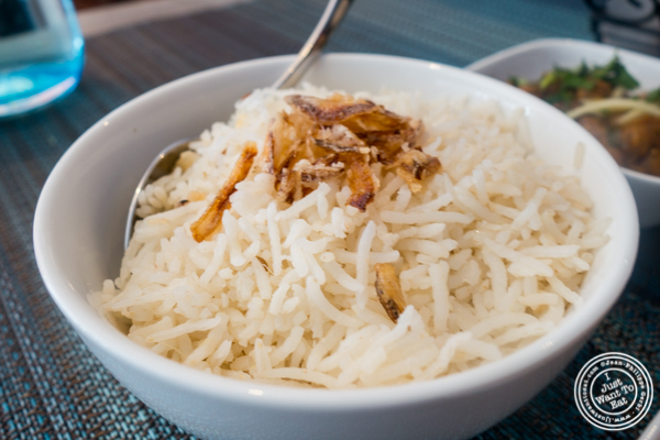 Basmati rice at Tikka Indian Grill in Williamsburg, Brooklyn