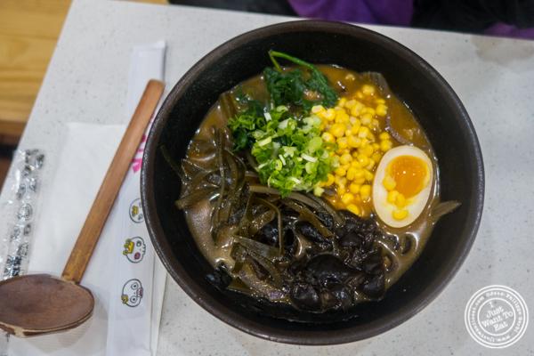 Veggie miso ramen at Vivi Bubble Tea in Hoboken, NJ