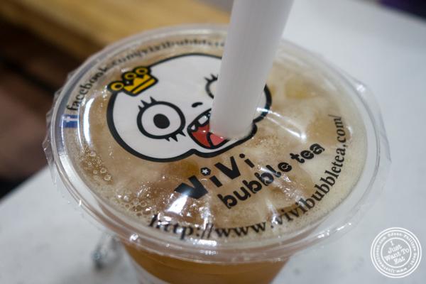 Mango bubble tea at Vivi Bubble Tea in Hoboken, NJ