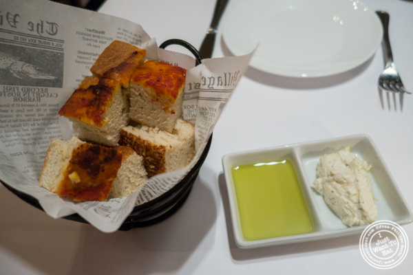 Focaccia at The Madison Bar and Grill in Hoboken, NJ