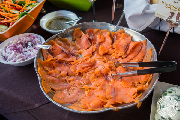 Smoked salmon at The Madison Bar and Grill in Hoboken, NJ