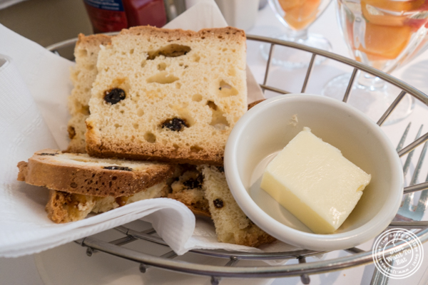 Homemade Irish soda bread at Court Street Restaurant and Bar in Hoboken, NJ