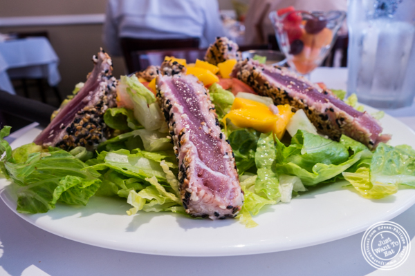 Seared ahi tuna salad at Court Street Restaurant and Bar in Hoboken, NJ